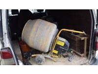 Cement Mixer with stand. Good condition, only 2 years old, needs a clean