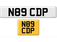 N89 CDP private cherished personalised personal registration plate number