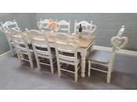7FT Rustic Bespoke Shabby Chic table set