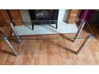 Hygena Matrix Glass TV Bench - USED