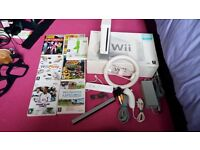 Wii Console with 7 Games for sale