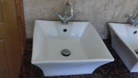 Counter Top Sinks 2 taps 2 sinks