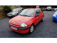 01 Renault Clio 1.2 3 Door Only 68000Mls Mot March 2018 Clean car ( Can be viewed inside Anytime