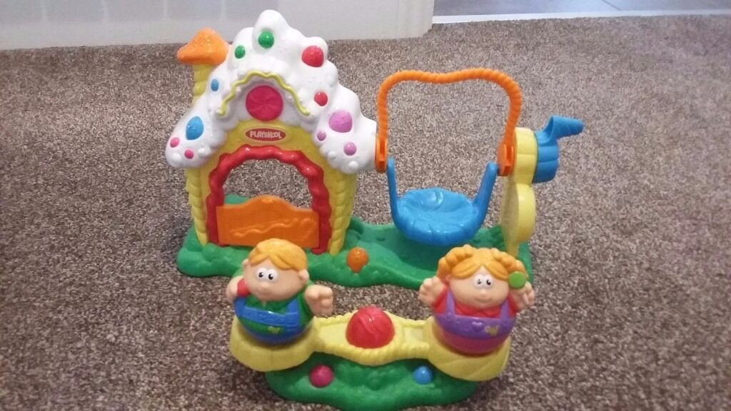 Weebles hansel and gretel swing set