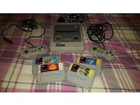 SNES fully working and in excellent condition. Rare games!!