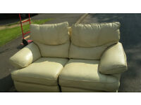 white two seat leather recliner for sale ( ring me on 07449 529 234 )