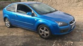 FORD FOCUS BLUE AUTOMATIC 2007 3DR ONLY 80K