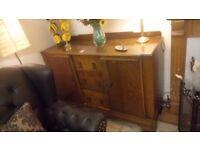 Vintage solid oak sideboard ONLY £50 CHEAP local DELIVERY Stalybridge SK15 2PT