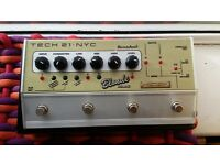 Tech 21 Blonde Deluxe, Fender style analog amp in a box with cabinet emulator and XLR output