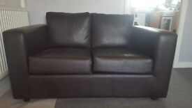 2 seater brown leather sofa for sale pick up only