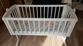 Brand new Baby Swing Cot with sealed new mattress