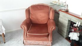 2 Chairs and 3 seater sofa reversable cushions