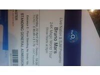 BRUNO MARS O2 London - Sat 22nd April 1 x Standing Ticket £94.00 Face Value inc all fees