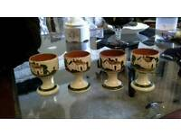 Torquay ware egg cups x 4