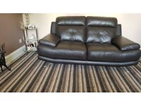 3&2 seater leather sofas