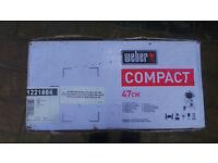 WEBER BLACK 47cms COMPACT CHARCOAL GRILL BNIB
