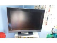 "32 "" flat screen TV. HITACHI"