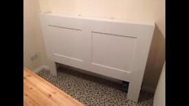 Kingsize headboard shelves bedroom storage