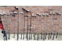 Golf Set, Ryder & Power Bilt Iron sets + 3x Drivers Chippers, Putters, Balls, Tee's Etc. - Used.