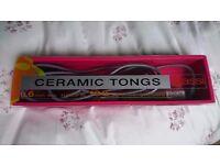 Ceramic tongs