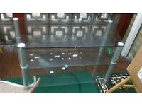Tv glass table or stand.