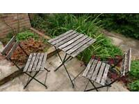 Small garden chairs and table