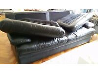 Free leather black 3 seater sofa