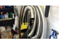 Chimney flue liner for using it. Its 15 meters long and its a 5 inch. Brand new never used