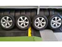 Peugeot Genuine 16 alloy wheels + 4 x tyres 205 60 16