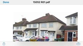 Watford 3bed semi to let opposite Parmiters school