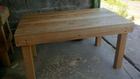 dining table - solid Ash hardood rustic table