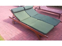 Solid Wooden Double Sunlounger