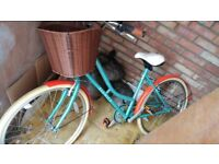 Ladies Bicycle with basket - used once - £185 ono