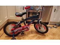 "Boys 16"" Spiderman Bike. Very Good Condition. £49.00."