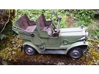 Large Classic Retro Vintage Metal Car Model Hand Made