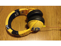 Skullcandy Hesh Yellow Headphones Wired Barely Used Perfect Condition