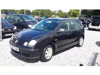 Volkswagen Polo 1198cc Petrol, Hatchback, 2004 (04) black, Manual, MotExpires: 14 November 2016