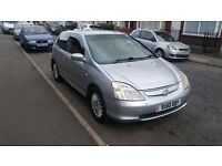 Honda Civic 1.4 2003 Silver 3door Hatchback