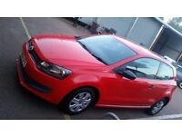 Vw red polo 2010 plate