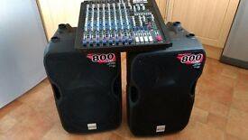 ALTO TS 112A Speakers/ALTO XMX 124 USB Mixer 1600 watt PA System
