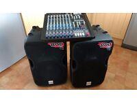 ALTO TS 112A Speakers/ALTO XMX 124 USB Mixer 1600 watt PA System
