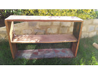 Solid wooden wall shelf