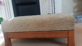 foot stool in beige upholstery reduced it by extra £10 NOW £25