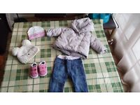 3 to 6 months branded baby girl clothes in very good condition
