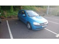 Vauxhall Corsa 2001 blue 1.0