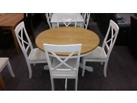 Davenport Round Pedestal Dining Table & 4 Chairs By Julian Bowen Can Deliver
