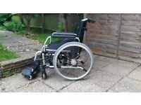 Wheelchair. Lightweight-Aluminium. Self-propelled and foldable