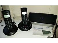 BT twin phones and BT broadband hub for sale