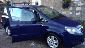 Vauxhall Zafira 1600 petrol, 2012, 50000 miles, full year MOT, excellent condition, priced to sell