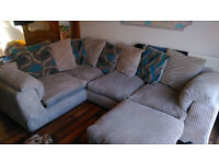 3 Piece Suite with Corner Sofa & Swivel Chair